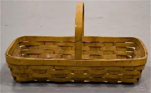 Painted Handled Splint Gathering Basket