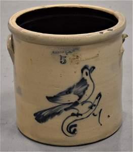 5 Gallon J.S Taft Blue Bird Crock