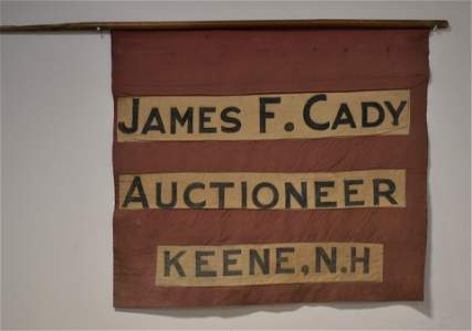 Early Linen Auctioneers Banner