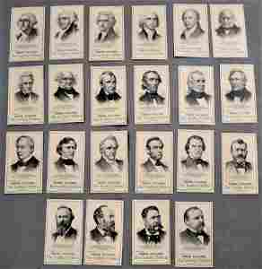 22 Three Taylors Trade Cards with Famous Americans