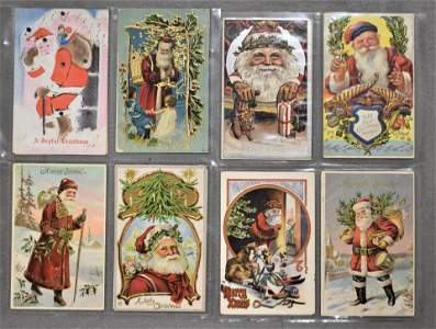 128 Antique and Vintage Christmas Postcards
