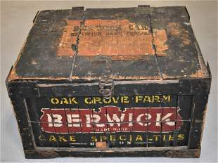 Wooden Berwick Cake Company Crate