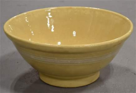 Large Banded Yelloware Bowl