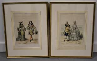 Pair of 19th Century French Fashion Prints