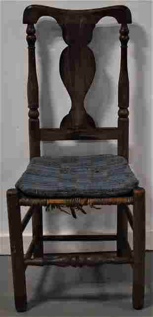 N.E. Painted Queen Anne Yoke Back Chair