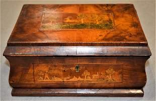 19th Century Parquetry Inlaid Box Dresser