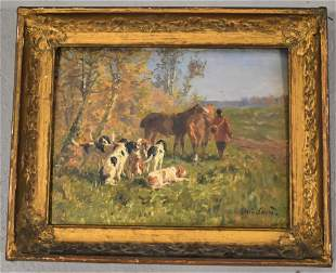 Marie Calves French Oil Painting