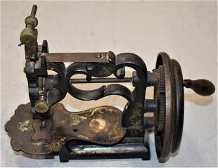 Victorian Painted Cast Iron Sewing Machine