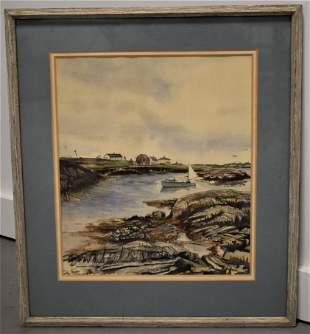 Coastal Watercolor Painting