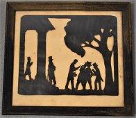 Abraham Lincoln Cut Paper Silhouette