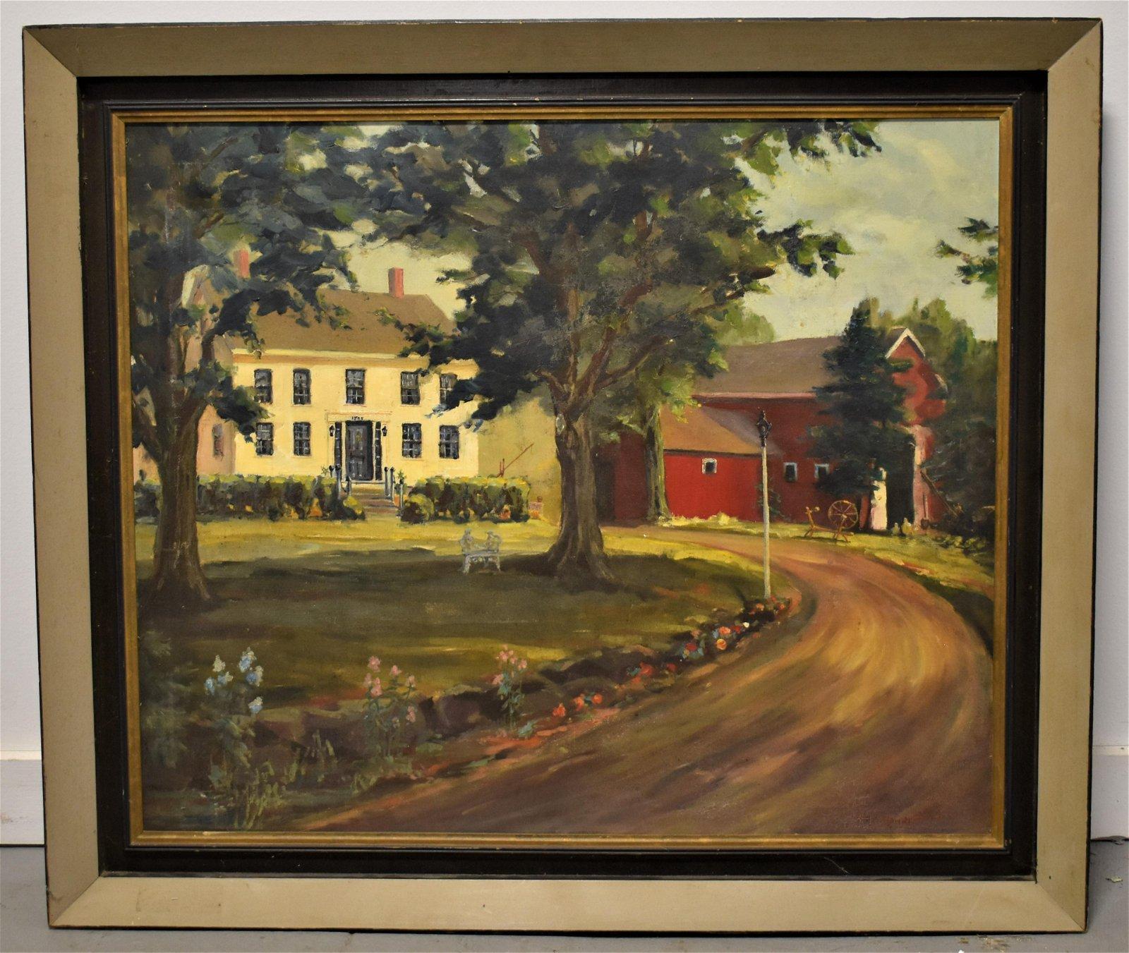 H.G. Rundlett oil Painting