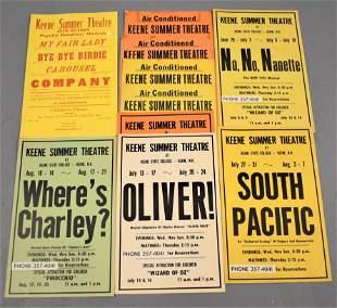 10 Vintage Keene Summer Theatre Broadsides