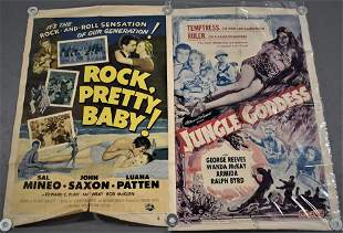 2 Vintage Mid 20th Cent Movie Posters
