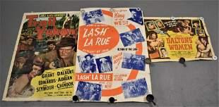 3 Vintage Western Movie Posters