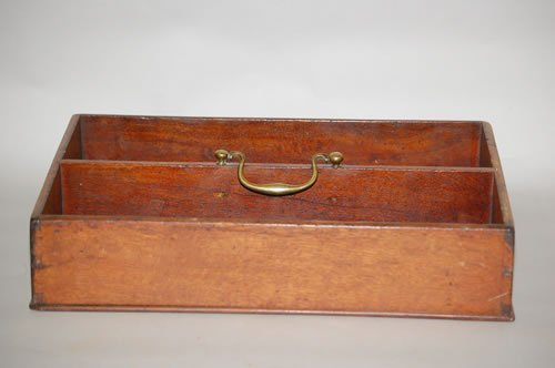 11: 19TH CENT. DIVIDED CUTLERY TRAY