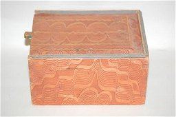 76: 19TH CENT. PAINTED SLIDE TOP BOX