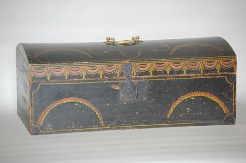 118: 19TH CENT. WORCESTER COUNTY MA PAINTED BOX