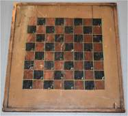 Late 19th Century Painted Wooden Game Board