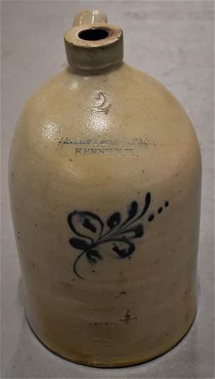 J.S Taft 2 Gallon Decorated Stoneware Jug