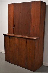 19th Century N.E. Painted Stepback Cupboard