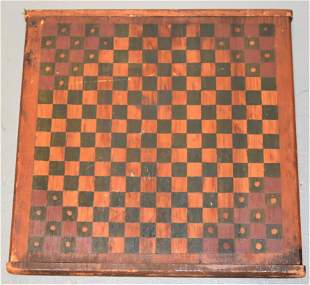 Late 19th Century Double Sided Wooden Game Board