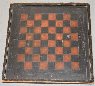 Late 19th Early 20th Century Painted Gameboard