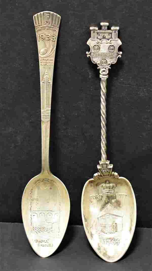 (2) Sterling Serving Spoons