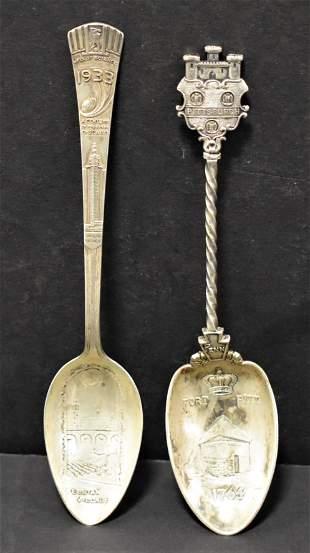 2 Sterling Serving Spoons