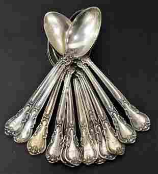 Set of 12 Gorham Sterling Tea Spoons