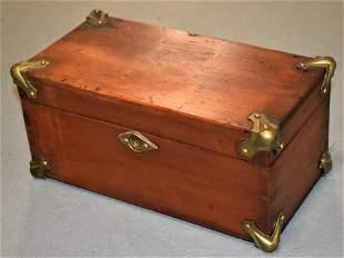 19th Century Pine Flat Top Document Box