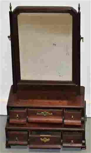 Chippendale Mahogany Dressing Mirror