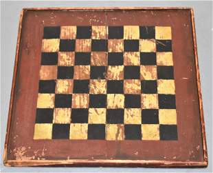 Late 19th Century Painted Game Board
