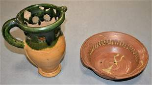 2 Redware Items
