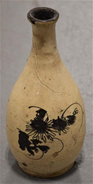 7 34 Decorated Asian Pottery Vase