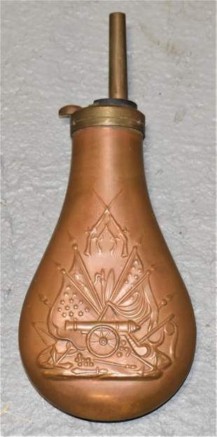 19th Century Copper Powder Flask