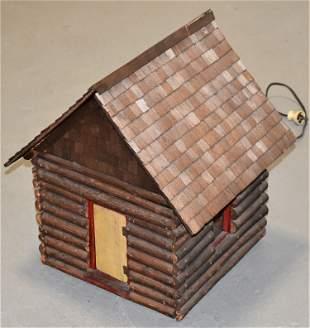 Decorative Lighted Log Cabin Model