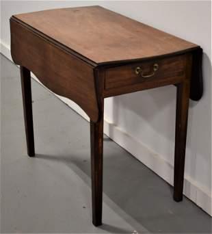 NE Cherry Inlaid Pembroke Table