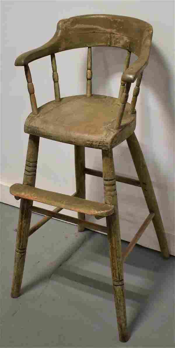 Painted Windsor Child's High Chair