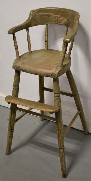 Painted Windsor Childs High Chair