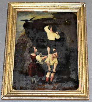 Early Reverse Painting on Glass