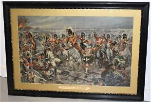 19th Century Colored Litho Of Scots At War