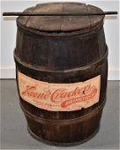 Wooden Banded Storage Barrel