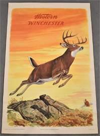 Vintage J.G. Woods Winchester Poster