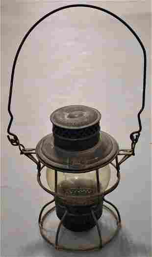 Vintage Caged Railroad Lantern