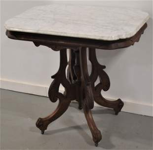 Victorian Marbles Top Parlor Table
