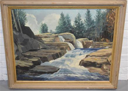 Earl H. Nutting Woodland Oil Painting