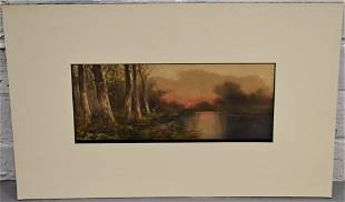Small Woodland Watercolor Painting