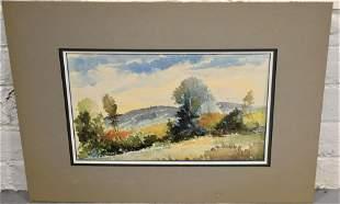 Robert Frick Watercolor Landscape Painting