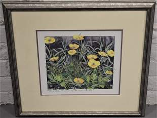 Gary Milek Colored Lithograph