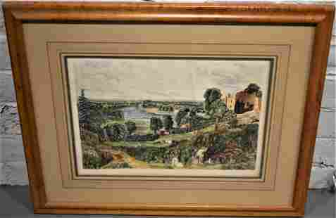 19th Century Hand Colored English Landscape
